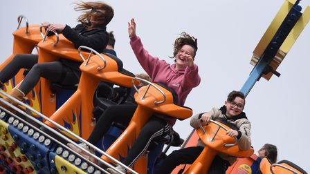 Happy faces as people enjoy the Disko ride as the Pleasure Beach opens to welcome back the public. P