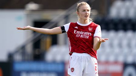 Arsenal's Leah Williamson during the Vitality Women's FA Cup fourth round match against Gillingham at Meadow Park