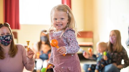 Mums and their toddlers are thrilled to be back at their Jo Jingles class in Kesgrave. Picture: Sar