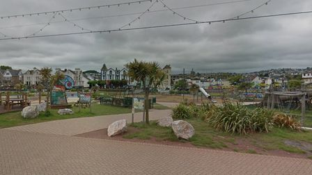 The Geoplay Park on Paignton seafront