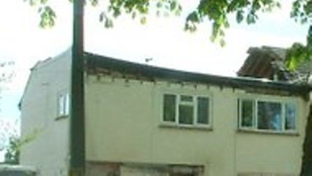 The roof of a house in Willian Way, Letchworth has collapsed into the building