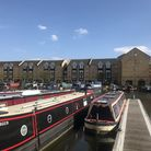 Apsley Marina is bordered by several restaurants.