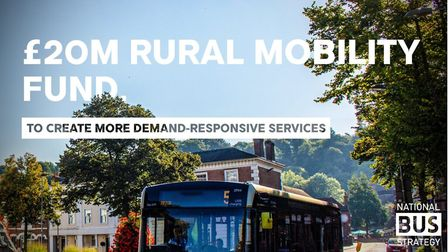 The Rural Mobility Fund offers an initial £20m to help ruralcommunitiestrial innovative on-demand services.