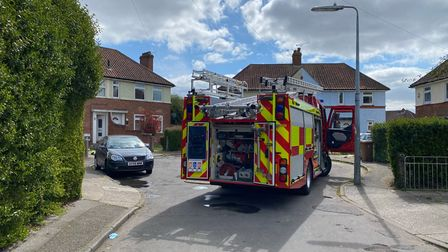 Four fire crews were called to the fire in the Whitton area of Ipswich
