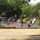 The play area in West Ham Park.