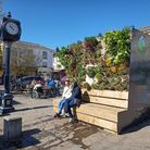 Breathe Green, by Rob Chivers of Urban Green Artists Ltd, by the Gatwards Clock inHitchin Market Square