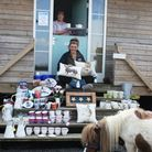 Sally and Bex Letts stocking up The Country Cabin in time for the fundraising May fairthis weekend.