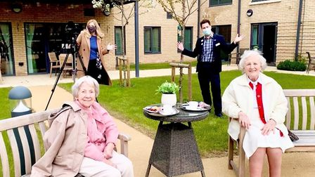 Doreen Butchers and Audrey Silsby had a taste of the celebrity life at Melbourn Springs Care Home