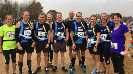 Garden City Runners at the 2019 Hertfordshire Half at Knebworth