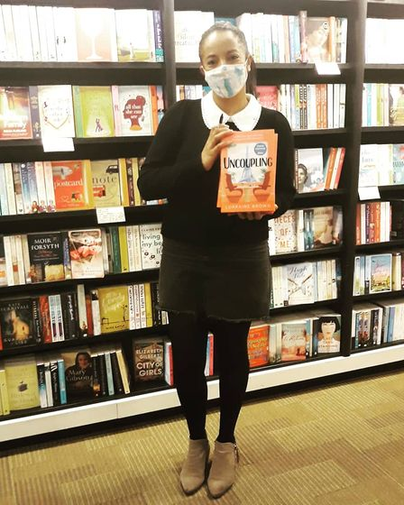 Lorraine finally made it into a bookshop to see her finished work in person when lockdown eased