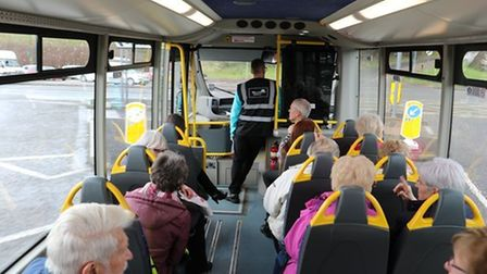 A community bus service in Torbay in a photograph taken before the Covid-19 pandemic.