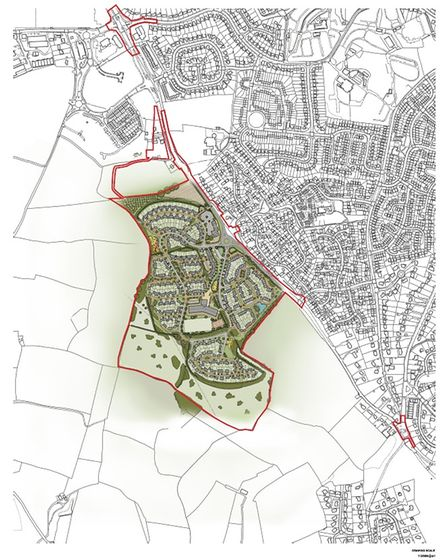 Original 2017 masterplan of the proposed Inglewood development between Paignton and Brixham