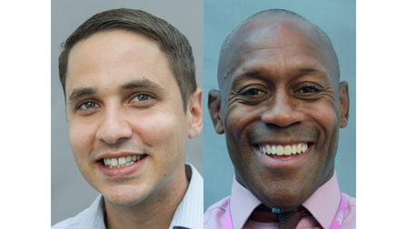 Ashton Harewood and Ian Brown are BAME champions at One Sixth Form College