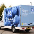 An Ocado electric van