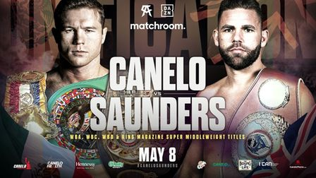 The poster for the Billy Joe Saunders and Saul Canelo Alvarez fight