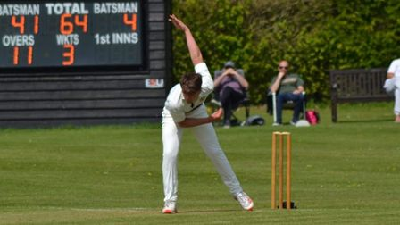 Adam Watling in action for Eaton Socon Cricket Club