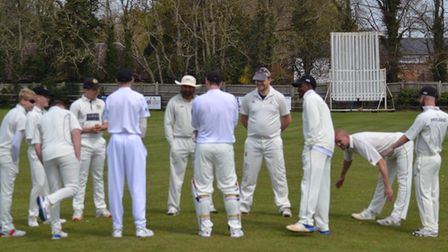 Eaton Socon Cricket Club's second team during their game with Waresley