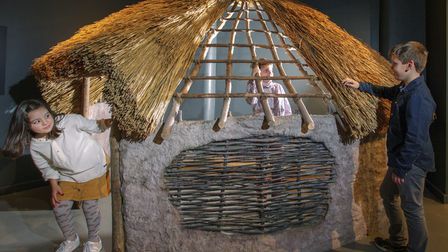 Replica of an Iron Age roundhouse at Corinium Museum, Cirencester