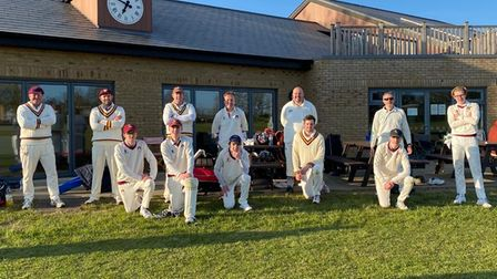 Waresley Cricket Club's historic Sunday side