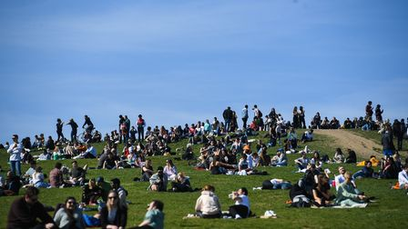 Crowds during the recent sunshine