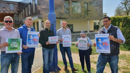 NHS staff pay protest