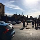 Police tape in Coolfin Road, Canning Town