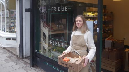 Julia Kirby-Smith outside Crouch End's Fridge of Plenty