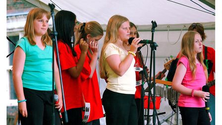 4-Teen perform on the Co-op stage at Ipswich Music Day in 2004