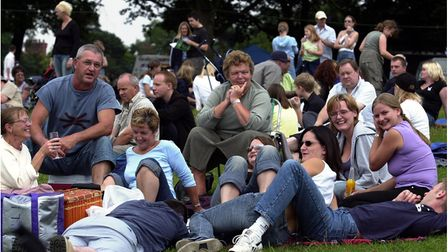 Enjoying the music in Christchurch Park at Ipswich Music Day in 2003