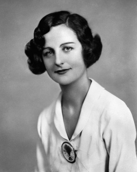 Nancy Mitford, an English novelist and biographer