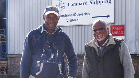 Trevor and Charles of Lombard Shipping PLC are sending goods to the people of St Vincent who are suf