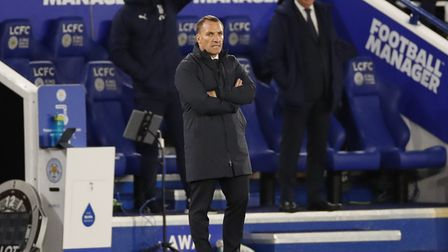 Leicester City manager Brendan Rodgers during the Premier League match at the King Power Stadium, Le