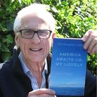 Author Christopher Owen with his book America Awaits Us, My Lovely and other stories