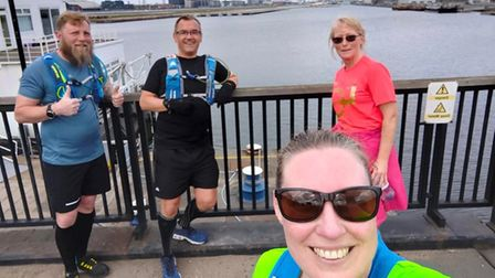 Tony Rawson, Tony Gawler, Leanne Mitchell and Lynsey Mann all completed yet another virtual marathon.