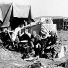 Home away from home for these British soldiers in Korea, the lorry was parked on a piece of flat gro