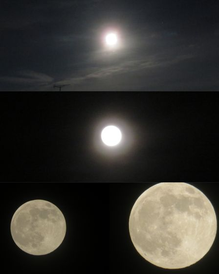 Different pictures of the moon