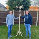 Denni Davies, who is in Year 11 at The Nobel School, built his very own antennae from his back garden