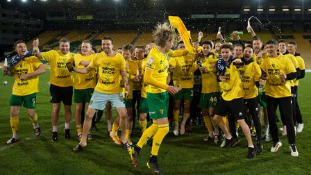 A night to remember for Ben Gibson and Norwich City's squad after Championship promotion was sealed