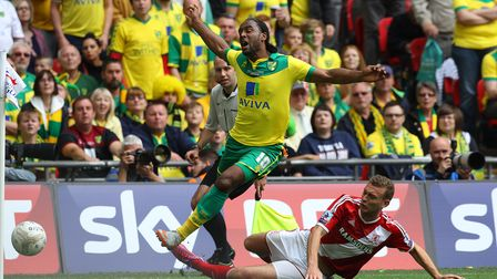 Ben Gibson was on the losing side for Middlesbrough in the 2015 play-off final defeat to Norwich City