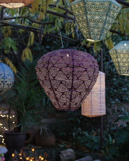Outdoor Solar Lanterns, available in selection of shapes and colours, Sparkle Lighting.