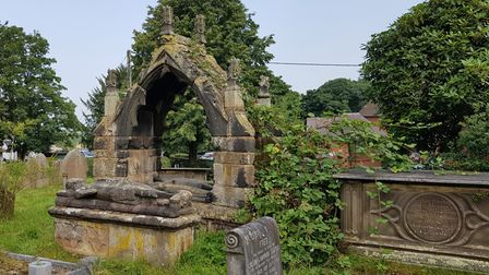The Venables canopied tomb at St Mary's Church, Astbury