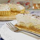 Ian Dowding's original banoffee pie has a sweet crust pastry base