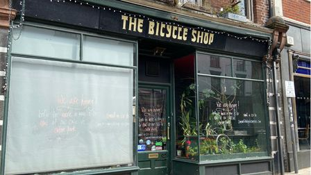 The Bicycle Shop on St Benedicts Street in Norwich in April 2021.