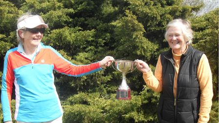 Carol Miller and Elaine Knobel-Forbes of Heydon Grange Golf Club