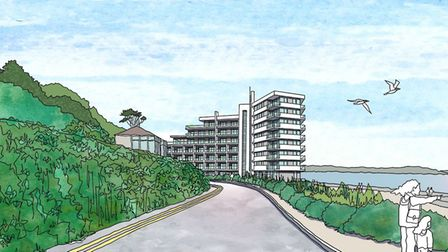 Anartist's impression of theRoyal Pier Hotel concept.