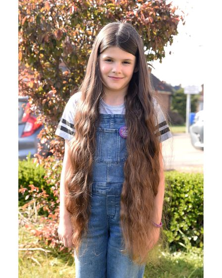 The hair will be donated to The Little Princess Trust to make a wig