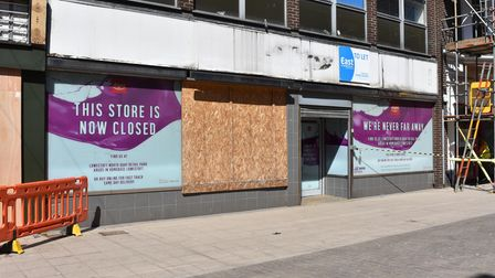 The former Argos store, next to the former McDonald's restaurant, in Lowestoft town centre.