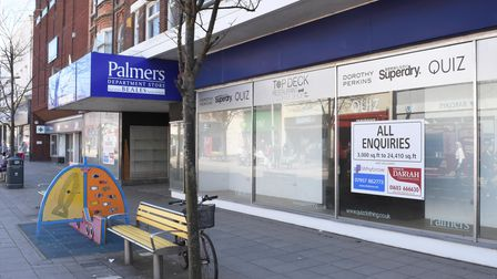The former Palmers department store remains vacant in Lowestoft town centre.