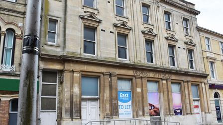 Lowestoft's former post office in the town centre remains empty.