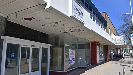 The former Westgate/Beales department store, remains vacant in Lowestoft town centre.